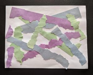 Early Literacy Take and Make: Paper Strip Collage