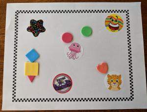 Early Literacy Take and Make: Stickers in a Frame