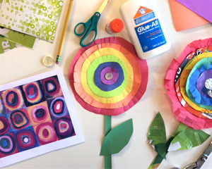 Cupboard Crafts & Experiments: Kandinsky Circle Flowers