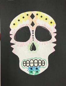Papel picado skulls