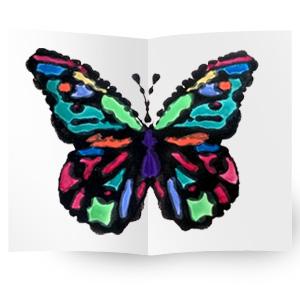 Kids Make: Black Glue Butterflies