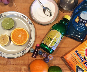 Cupboard Crafts & Experiments: Citrus Volcanoes