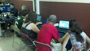 Laptop Lab at Red Cross Shelter