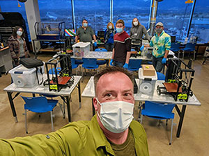 A makerspace at Library 21c was used for training on 3D printers to make face shields