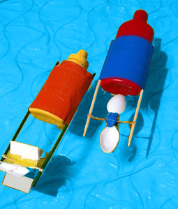 Kids STEM: Rubber Band Paddle Boats