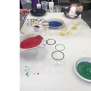 painting with cups