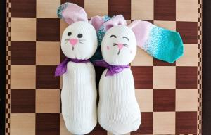 Cupboard Crafts & Experiments: Sock Bunny
