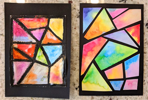 Kids Make: Watercolor Stained Glass