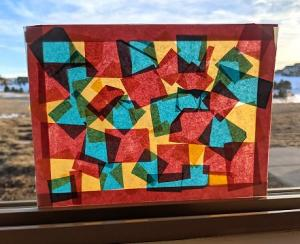 "Early Literacy: Tissue Paper ""Stained Glass"""