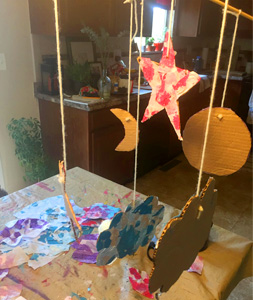 Kids Make: Eric Carle Inspired Painted Collage Mobile